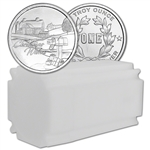 1 oz Silver Round CNT Christmas Barn Design .9999 Fine Tube of 20 Rounds