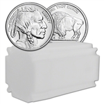 1 oz Silver Round CNT Buffalo Design .9999 Fine 1 Roll Tube of 20