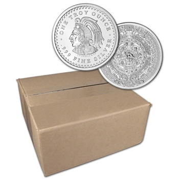 1 oz Golden State Mint Silver Round Aztec Calendar 999 Fine Sealed Box of 500