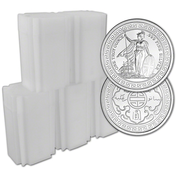 100 pc 1 oz. Golden State Mint Silver Round Trade Dollar .999 Fine 5 Tubes of 20