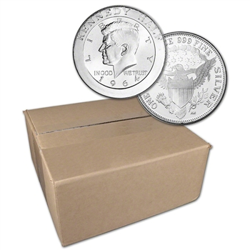 1 oz. Highland Mint Silver Round Kennedy Half Dollar .999 Sealed Box of 500