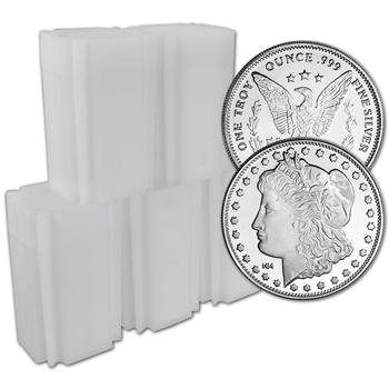 100 pc 1 oz Highland Mint Silver Round Morgan Dollar .999 5 Tubes of 20