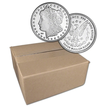 1 oz. Highland Mint Silver Round Morgan Dollar .999 Sealed Box of 500