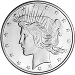 1 oz. Highland Mint Silver Round - Peace Dollar Design .999+ Fine