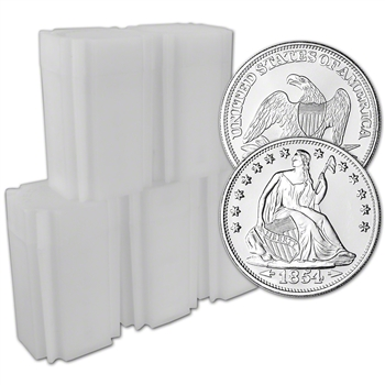 100 pc 1 oz. Highland Mint Silver Round Seated Liberty .999 5 Tubes of 20