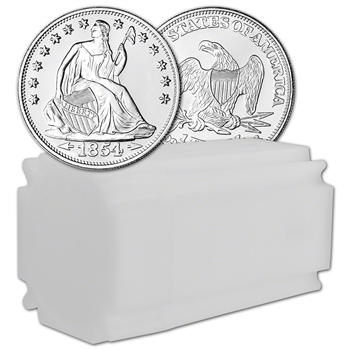 TWENTY (20) 1 oz. Highland Mint Silver Round Seated Liberty .999 Roll Tube of 20