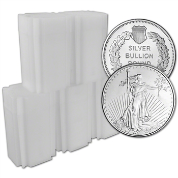 100 pc 1 oz. Highland Mint Silver Round Saint-Gaudens Design .999 5 Tubes of 20