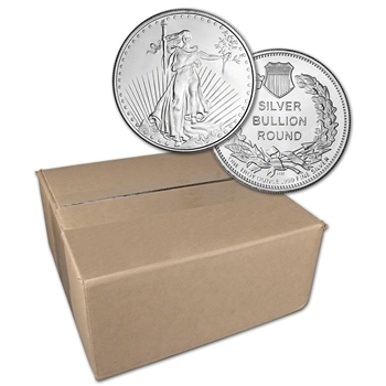 1 oz. Highland Mint Silver Round Saint-Gaudens Design .999 Sealed Box of 500