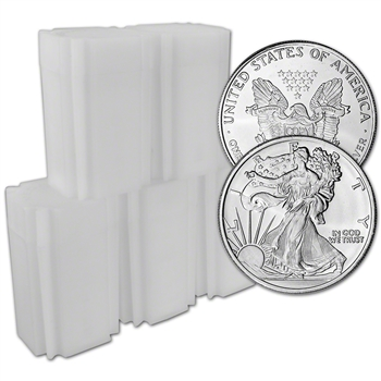 100 pc 1 oz. Highland Mint Silver Round Walking Liberty .999 Roll 5 Tubes of 20