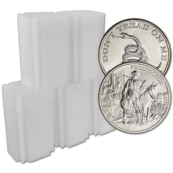 100-pc. 1 oz Silver Round - Random Brand Secondary Market - .999 (5 Tubes of 20)
