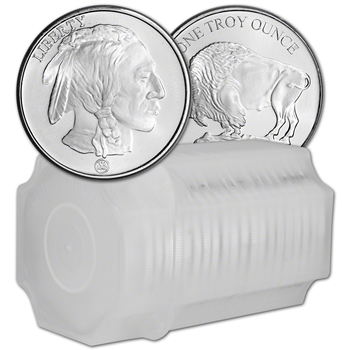 1 oz. Silver Round - Republic Metal Corp Buffalo Design (Lot, Roll, Tube of 20)