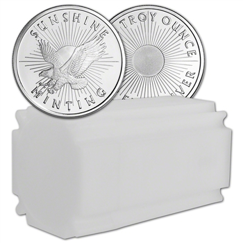 1 oz. Silver Round - Sunshine Minting - .999 Fine (Lot, Roll, Tube of 20)