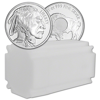 1 oz. Silver Round - Sunshine Buffalo - .999 Fine (Lot, Roll, Tube of 20)