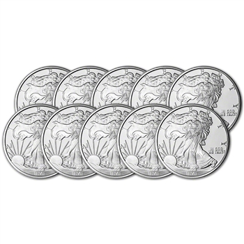 TEN (10) 1 oz. Silver Round - Sunshine Liberty - .999 Fine