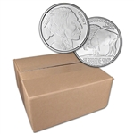 1 oz. SilverTowne Silver Round Buffalo Design 999 Fine  Sealed Box of 500