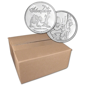 1 oz. SilverTowne Silver Round Prospector Design 999 Fine  Sealed Box of 500