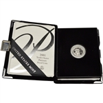 2001-W American Platinum Eagle Proof 1/10 oz $10 in OGP