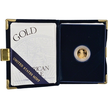 2002-W American Gold Eagle Proof (1/10 oz) $5 in OGP