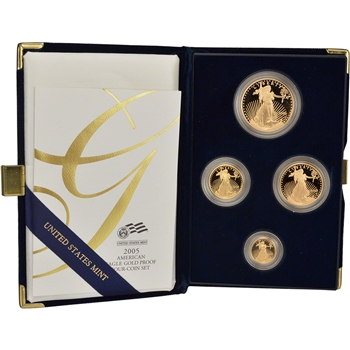 2005 American Gold Eagle Proof Four-Coin Set