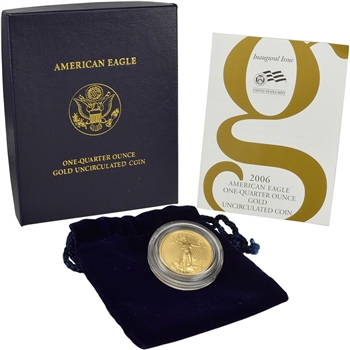 2006-W American Gold Eagle 1/4 oz $10 Uncirculated Coin Burnished in OGP