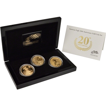 2006-W US American Gold Eagle 20th Anniversary Three-Coin Set