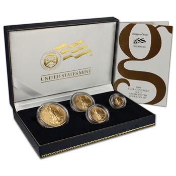 2006-W US American Gold Eagle Burnished Four-Coin Set