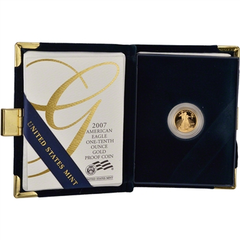 2007-W American Gold Eagle Proof (1/10 oz) $5 in OGP