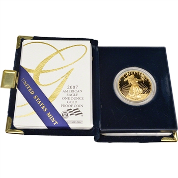 2007-W American Gold Eagle Proof 1 oz $50 in OGP