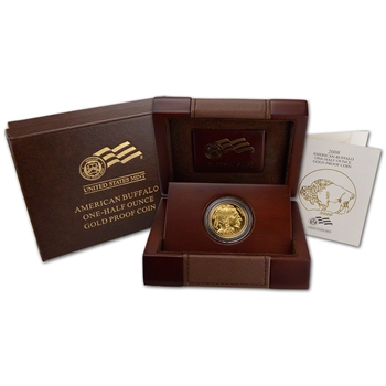 2008-W American Gold Buffalo Proof (1/2 oz) $25