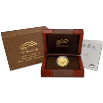 2008-W American Gold Buffalo Uncirculated (1/2 oz) $25
