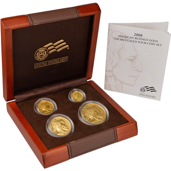 2008-W American Gold Buffalo Uncirculated Burnished Four Coin Set