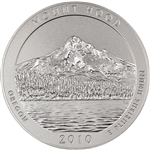 2010-P US America the Beautiful Five Ounce Silver Uncirculated Coin - Mt. Hood