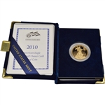 2010-W American Gold Eagle Proof 1/2 oz $25 in OGP