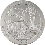 2010-P US America the Beautiful 5 oz. Silver Uncirculated Coin - Yellowstone
