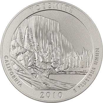 2010-P US America the Beautiful 5 oz. Silver Uncirculated Coin - Yosemite