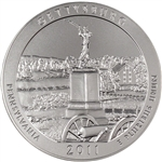 2011-P US America the Beautiful Five Ounce Silver Uncirculated Coin - Gettysburg