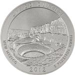 2012-P US America the Beautiful Five Ounce Silver Uncirculated Coin - Chaco