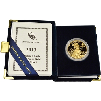 2013-W American Gold Eagle Proof 1 oz $50 in OGP