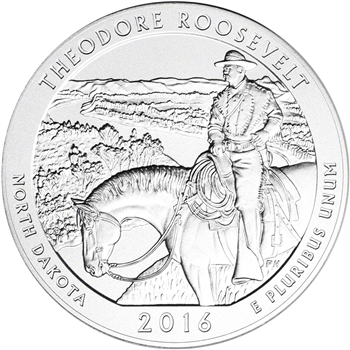 2016-P US America the Beautiful Five Ounce Silver Uncirculated Roosevelt