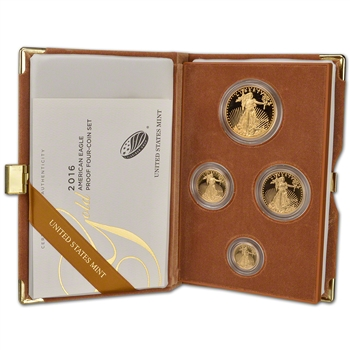 2016 US American Gold Eagle Proof Four-Coin Set