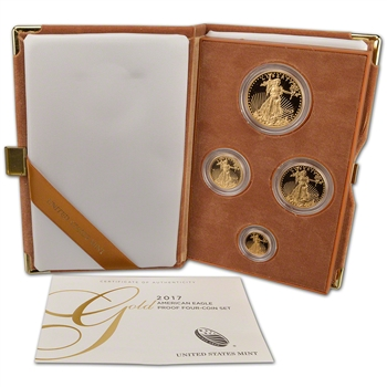 2017 US American Gold Eagle Proof Four-Coin Set (17EF)