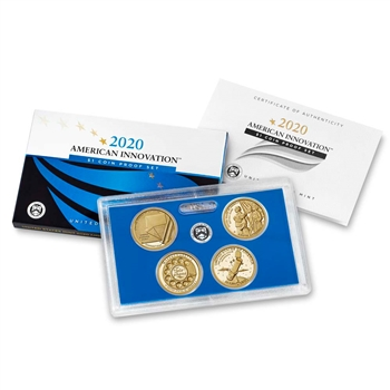 2020 S US American Innovation $1 4 Coin Proof Set (20GA)
