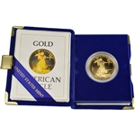 1986-W American Gold Eagle Proof (1 oz) $50 in OGP
