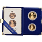 1987 American Gold Eagle Proof Two-Coin Set