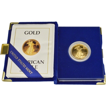 1988-P American Gold Eagle Proof (1/2 oz) $25 in OGP