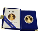 1988-W American Gold Eagle Proof 1 oz $50 in OGP