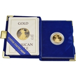 1989-P American Gold Eagle Proof (1/4 oz) $10 in OGP