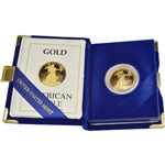 1989-P American Gold Eagle Proof (1/2 oz) $25 in OGP