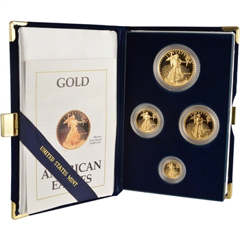 1990 American Gold Eagle Proof Four-Coin Set