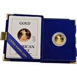 1990-P American Gold Eagle Proof (1/4 oz) $10 in OGP